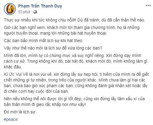 Mây Trắng, Thanh Duy idol, sao Việt