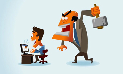 lãnh đạo, công sở, sếp với nhân viên