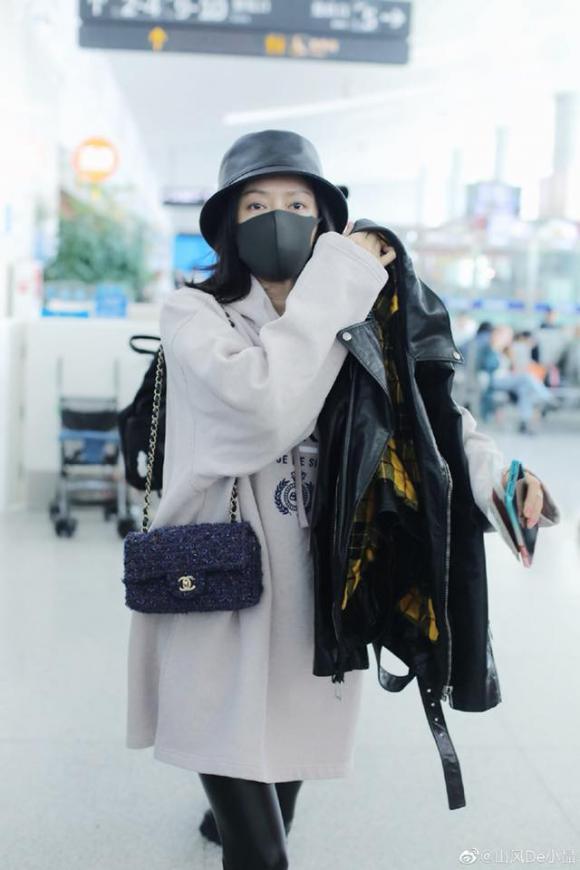 tần lam, chân tong teo, thời trang sân bay, sao hoa ngữ