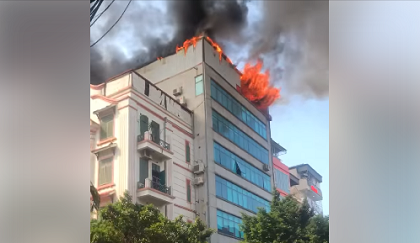 cháy lớn, cháy chung cư, hoàng cầu