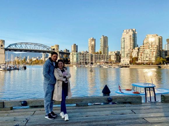 Bình Minh cùng vợ đi du lịch Canada nhận dịp đón tuổi mới