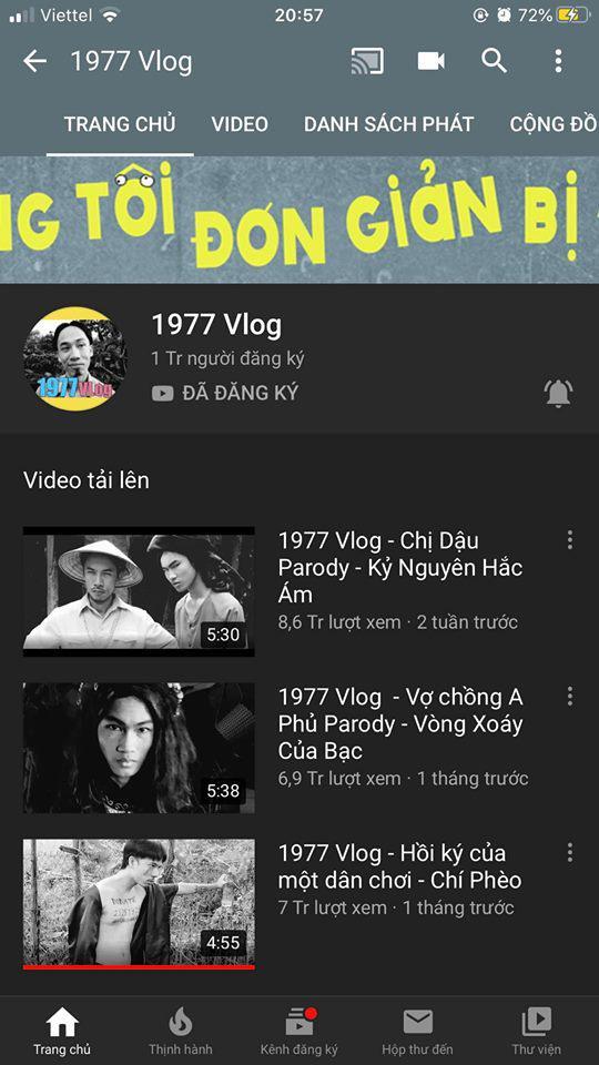 1977 Vlog, 1977 Vlog nhận nút vàng, giới trẻ