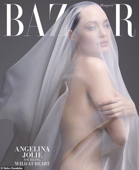 angelina jolie, khỏa thân, brad pitt, ly hôn, sao hollywood