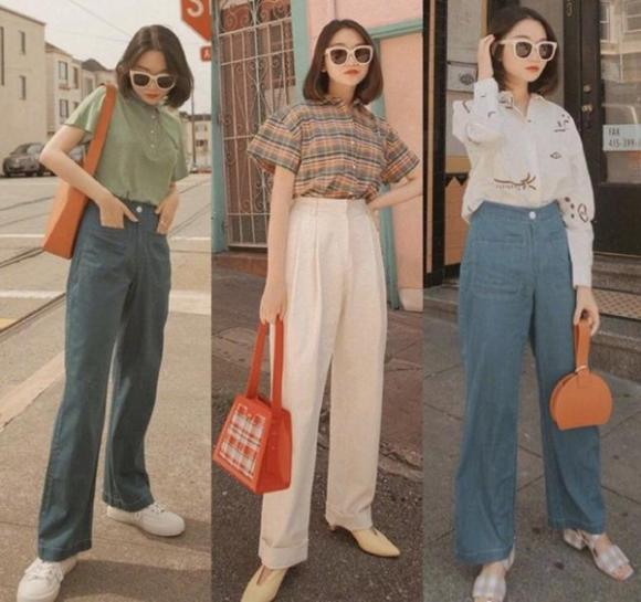 thời trang thu, xu hướng thời trang thu, quần cạp cao
