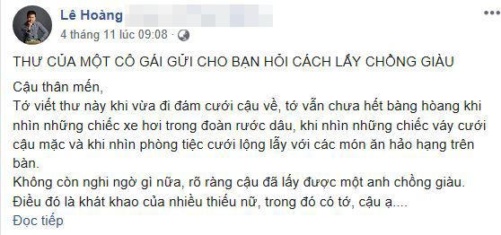 lấy chồng giàu, cách lấy chồng giàu, đạo diễn Lê Hoàng