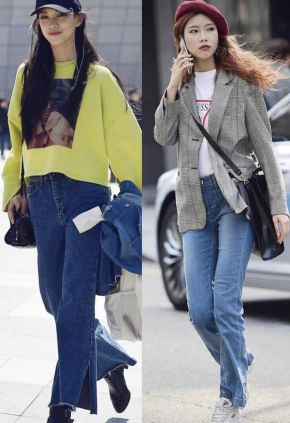 trang phục, trang phục mùa thu, quần jeans, cách kết hợp quần jeans