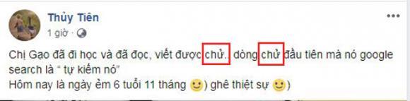 Thuỷ Tiên, con gái Thuỷ Tiên, công vinh, sao Việt