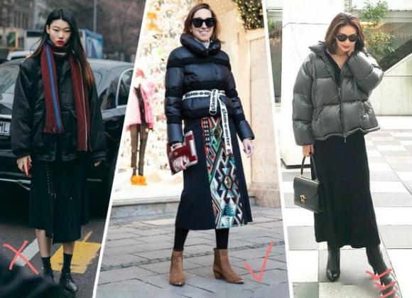 áo phao, thời trang lạnh, mặc đẹp