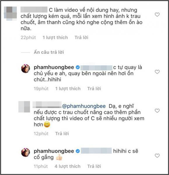 Kêu gọi khán giả ủng hộ vlog của mình, Phạm Hương nhận phản hồi cực thẳng thắn