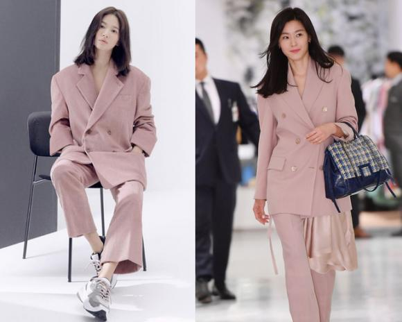 Jeon Ji Hyun và Song Hye Kyo đụng hàng,Song Hye Kyo,Jeon Ji Hyun,sao Hàn