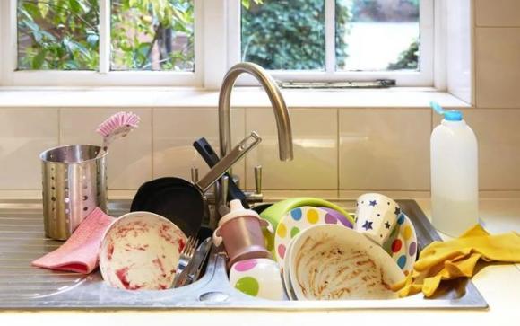 rửa bát, vệ sinh ăn uống,