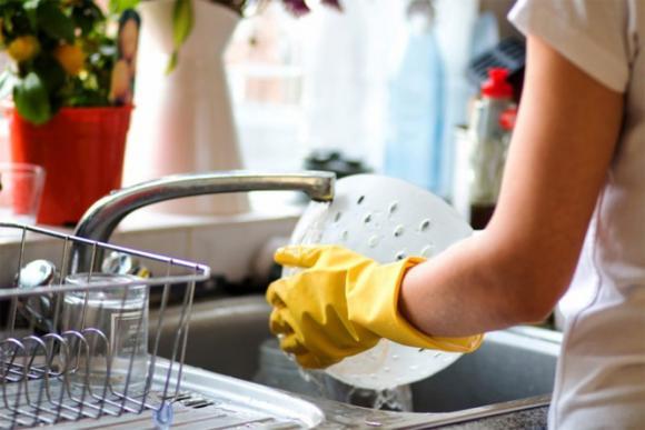 rửa bát, tránh hóa chất, thân thiện môi trường