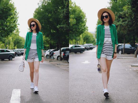 mẹo mặc đẹp, màu xanh lá, xanh nõn chuối