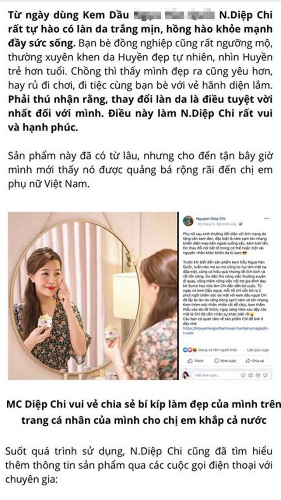 MC Diệp Chi, sao Việt, Diệp Chi
