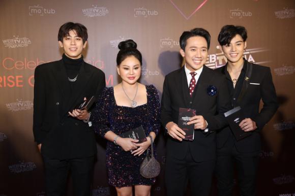 người mẫu Ngọc Trinh, ca sĩ Chi Pu, diễn viên Nhã Phương, á hậu Huyền My, ông trùn chân dài Vũ Khắc Tiệp, sao Việt, METUB WebTVAsia Awards