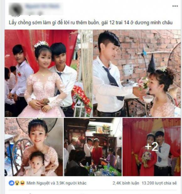Cặp đôi cô dâu 12 chú rể 14,đám cưới cặp đôi tuổi teen