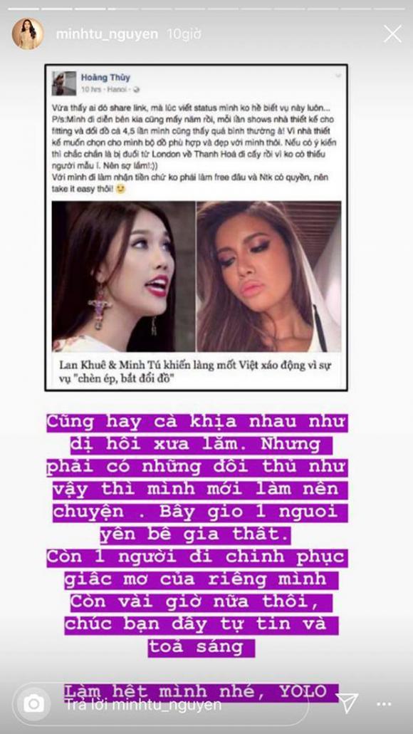 siêu mẫu Minh Tú, siêu mẫu Lan Khuê, á hậu Hoàng Thuỳ, sao Việt