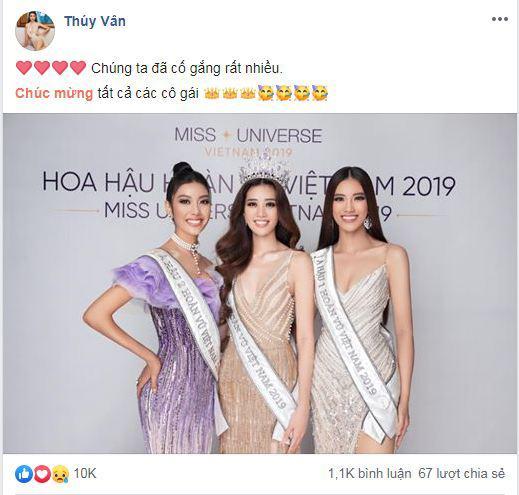 Thuý Vân, Á hậu Thuý Vân, Hoa hậu Hoàn vũ Việt Nam 2019, sao Việt