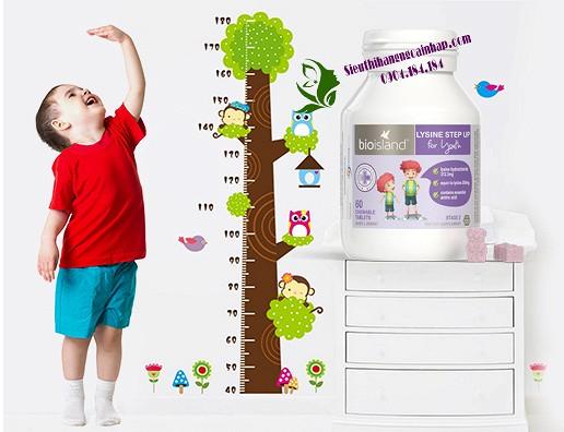 Viên uống tăng chiều, cao Lysine Bio Island, Tăng chiều cao cho trẻ