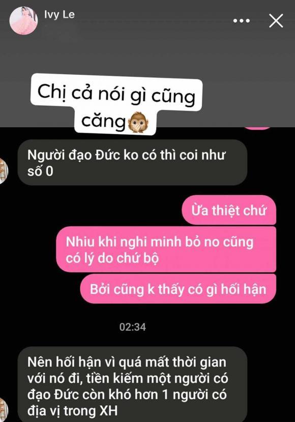 Hồ Quang Hiếu, vợ cũ Hồ Quang Hiếu, Ivy Lê