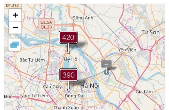 Hà Nội, ô nhiễm, không khí, môi trường