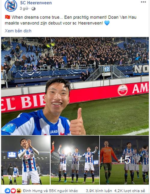 SC Heerenveen, Đoàn Văn Hậu, Tin thể thao