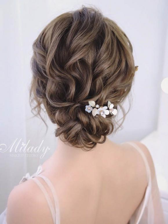 tóc cô dâu, kiểu tóc cô dâu, búi tóc kiểu Hàn