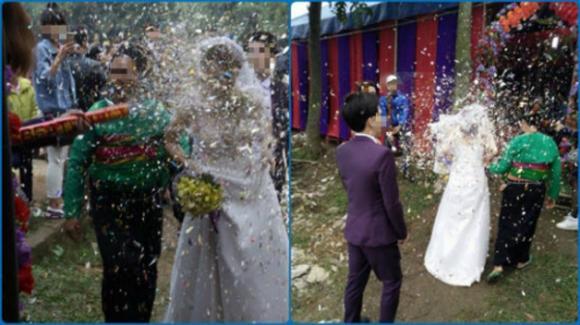 pháo giấy, trò đùa vô duyên, trai làng, đám cưới, cỗ cưới