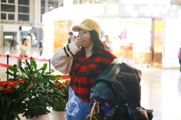 tần lam, thời trang sân bay, sao hoa ngữ