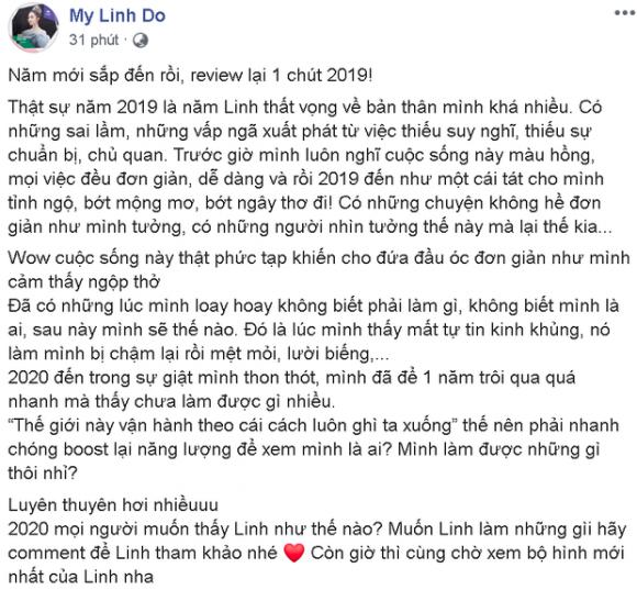 Đỗ Mỹ Linh khoe clip 'lột xác', trải lòng về một 2019 'như cái tát' vào mặt