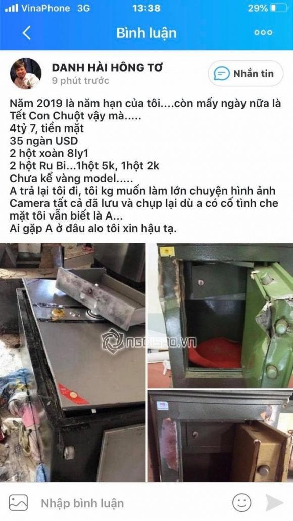 danh hài Hồng Tơ, sao Việt, trộm