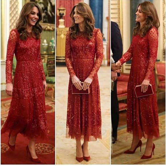 công nương kate, set đồ đỏ, thời trang của công nương kate