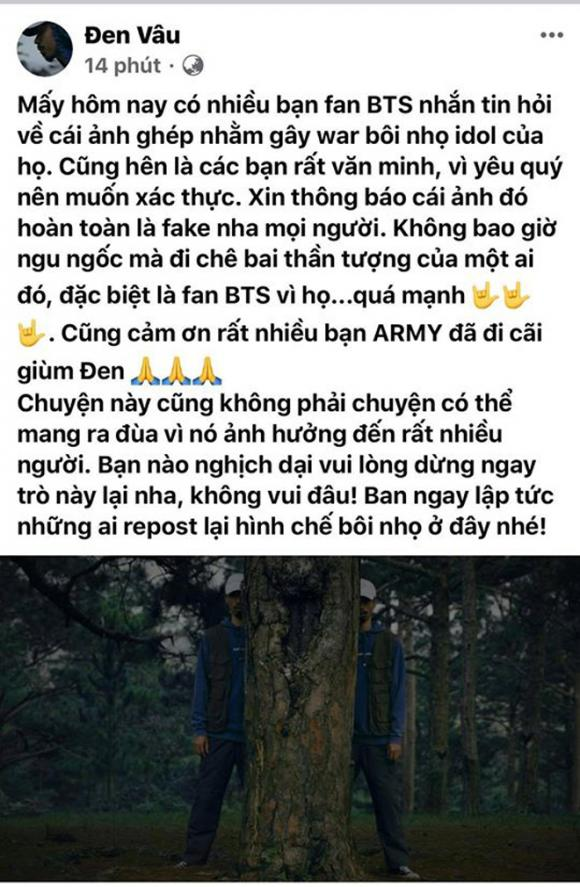 Đen Vâu, BTS, sao Việt