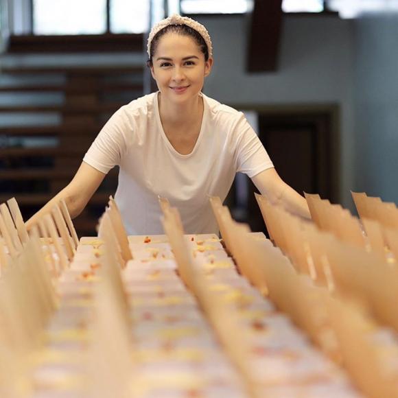 marian rivera, mỹ nhân đẹp nhất philippines, mùa dịch, nấu ăn