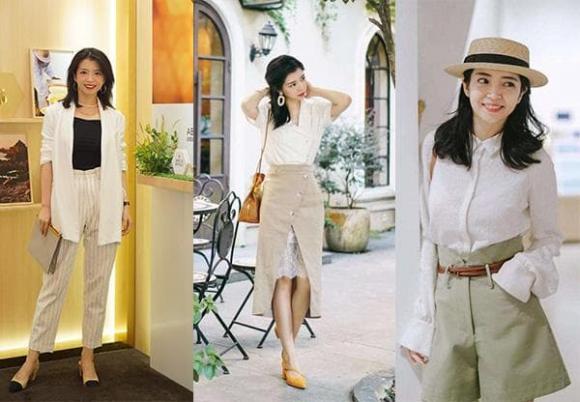 thời trang, áo sơ mi trắng, mặc đẹp
