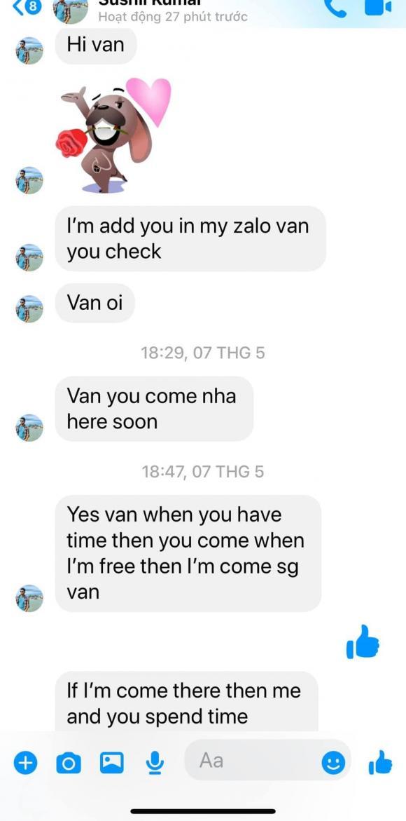 Phi Thanh Vân bức xúc vì bị người đàn ông lạ liên tục nhắn tin làm phiền