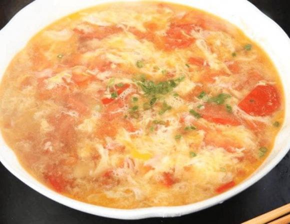 dạy nấu ăn, canh cà chu trứng, trứng cà chua,