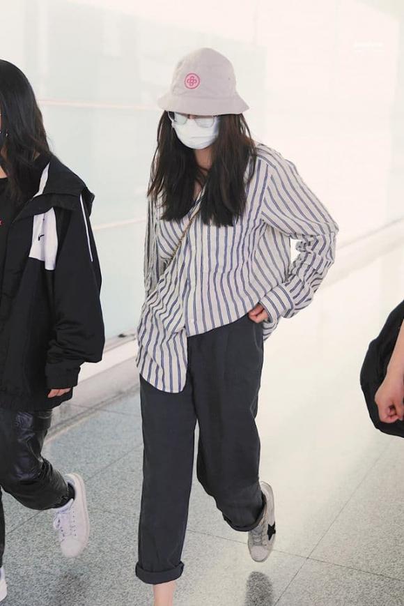 địch lệ nhiệt ba, đầu bù tóc rối, thời trang sân bay, sao hoa ngữ