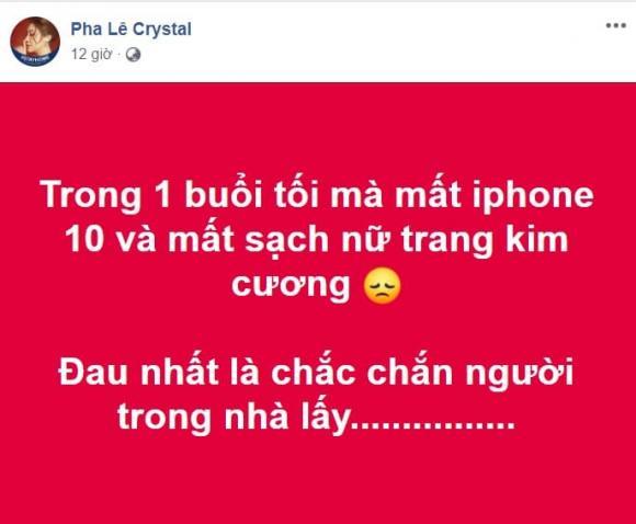 Pha Lê, Pha Lê mất trộm, sao Việt