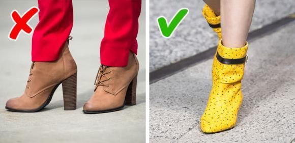 chọn giày, thời trang, giày lỗi thời