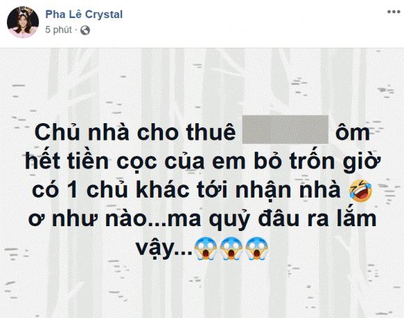 ca sĩ Pha Lê, sao Việt,Pha Lê gặp vận xui