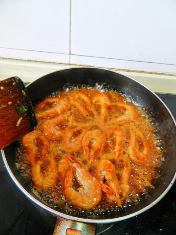 dạy nấu ăn, học nấu ăn, món tôm