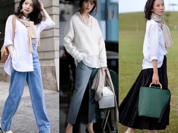 thời trang, sơ mi trắng, mặc đẹp