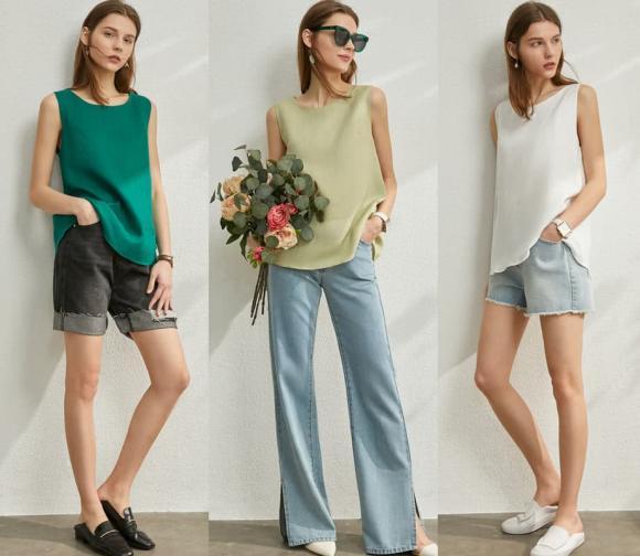 Áo phông đã lỗi thời! 'Áo sát nách + váy / quần' là phổ biến trong mùa hè này: vừa mát mẻ vừa thon gọn!