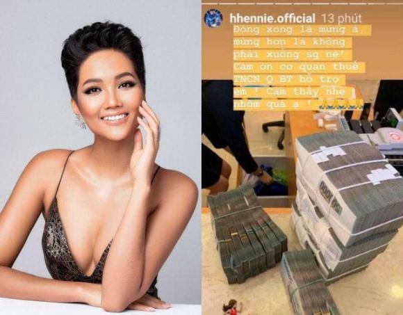 Hoa hậu Hoàn vũ Việt Nam 2017, H'Hen Niê, đóng thuế