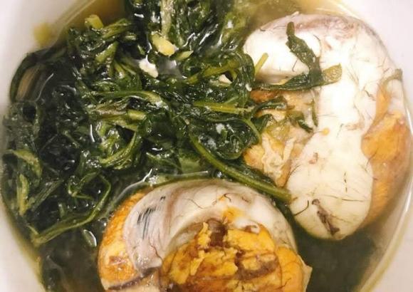 dạy nấu ăn, trứng vịt lộn, trứng ngải cứu