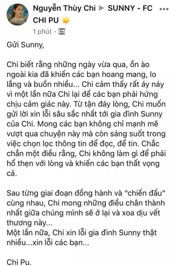 Chi Pu chính thức lên tiếng sau loạt lùm xùm với Quỳnh Anh Shyn, khẳng định không hổ thẹn với lòng