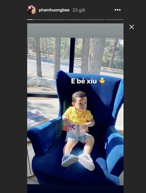 Phạm Hương khoe con trai đã biết làm điều đặc biệt này cho mẹ