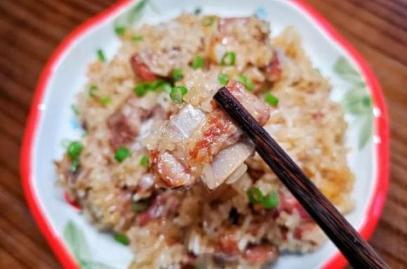 món sườn heo, dạy nấu ăn, sườn hấp gạo nếp