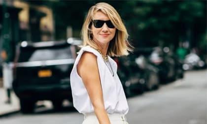 áo chữ T, áo phông trắng, thời trang xuân, mặc đẹp